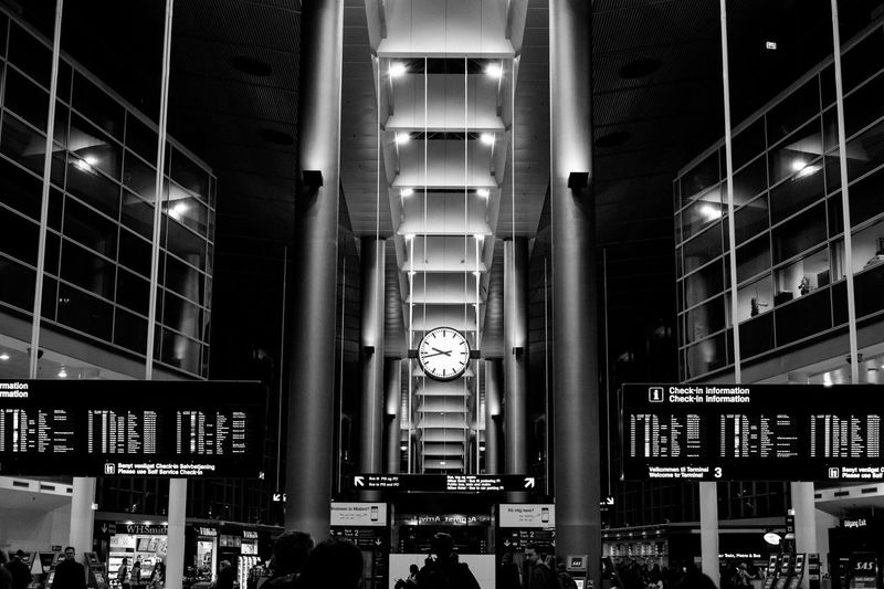 Airport Apartment Architectural Feature Architecture Architecture Blackandwhite Bnw Building Built Structure Bw City City Life Copenhagen Cph Exterior Illuminated København Low Angle View Modern Mono Monochrome No People Repetition