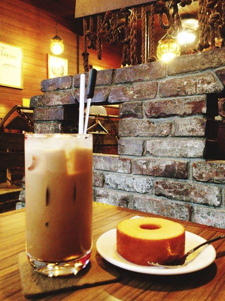 Cafe Food Porn Dericious Coffee Icecoffee 純喫茶 Baumkuchen Yummy! Nostalgic  Relaxing 仕事が終わってほっと一息つきたくてここへ。