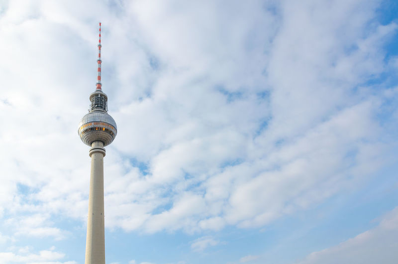 Berlin Alexanderplatz, tv tower Alexanderplatz Berlin Sightseeing Alex Architecture Building Exterior Built Structure City Cloud - Sky Clouds Communication Day Global Communications Low Angle View No People Outdoors Sky Skyscraper Spire  Tall - High Television Tower Tourism Tower Travel Travel Destinations