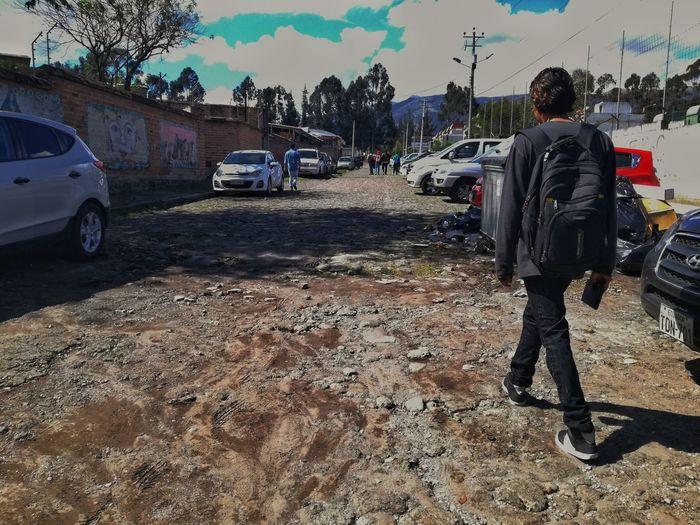 Road Cars Boy Walk