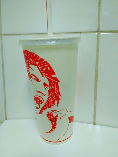 Taking Photos RAD Radical Music Musician Drink Cup ArtWork Drink Cups Drinkcup Check This Out Drinkcups Art Coke Cups Coke Fine Detail Fine Details Faces In Places Coke Design Intricate Designs Intricate Details Show Me Your Face .... Coca~cola Cups Coca-cola Singer
