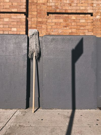 Brick wall against brick wall