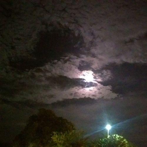 Supermoon Moonishiding Clouds Night Coudlynight