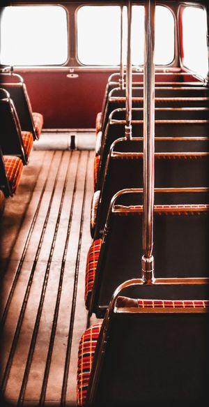 Interior of empty bus
