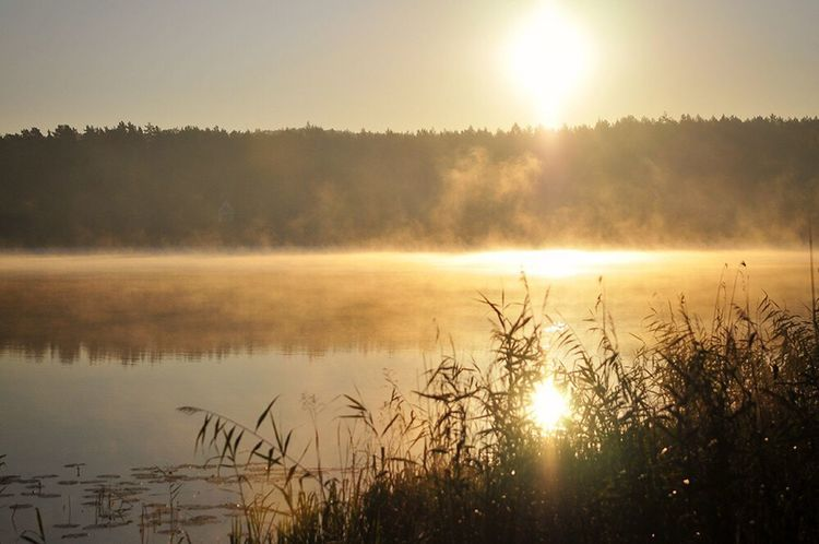Dawn Lake Natural Beauty Nature Morning Mazury Holiday Polska