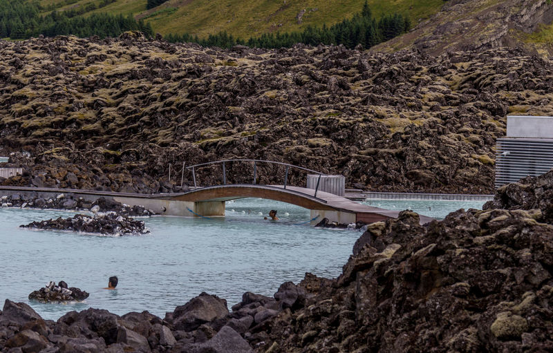 Bathing Blue Lagoon Europe Trip Iceland Nordic Countries Swimming Architecture Blue Geothermal Spa Nature Outdoors Rocks Water