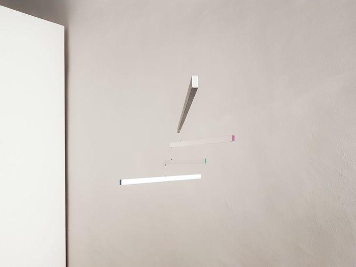 | Le Macchine inutili | BrunoMunari|AriaTerra Artworks White Background Light And Shadow Wall EyeEmItaly Cittadella Padova Bruno Munari No People Flying Day Indoors  EyeEm Ready