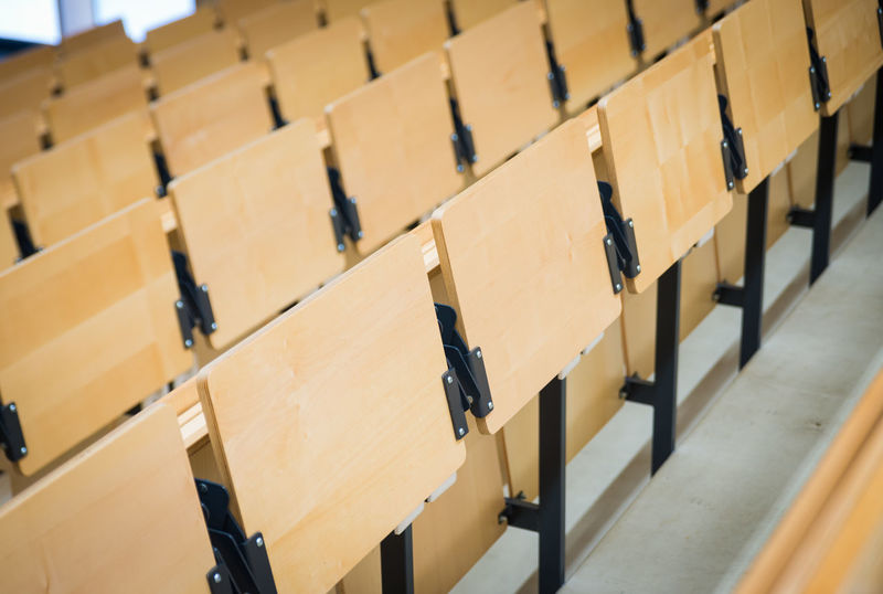 auditorium at a university Close-up Day Education In A Row Indoors  Large Group Of Objects Learning Lecture Hall No People University Wood - Material