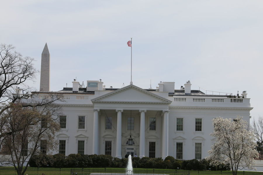Architecture Flag Historic Historical Historical Building The White House USA Washington Washington, D. C. White House