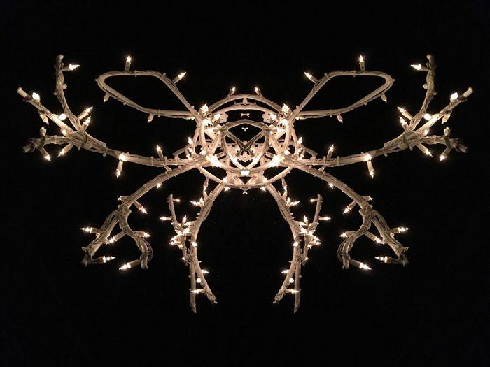 Light-ing Bug ✨⚡️🐝⚡️✨ Tadaa Community Symmetry Illuminated Night No People Black Background Decoration Celebration Capture Tomorrow Lighting Equipment Light Electric Light Glowing