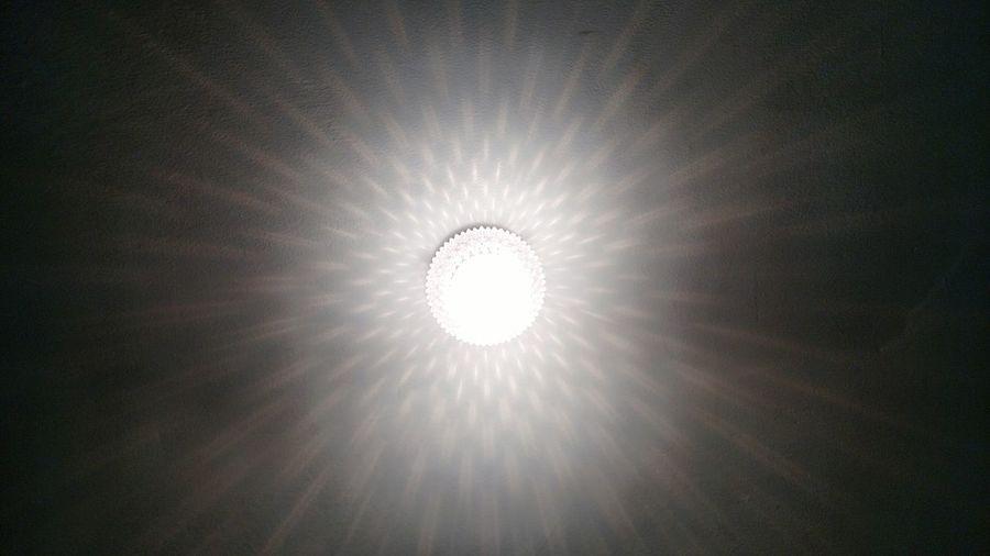 Low angle view of light bulb