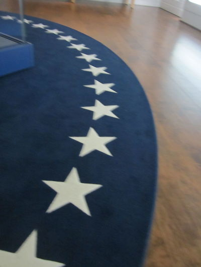 America American Flag Blue Close Up Close-up Design No People Oval Office Presidental Red White And Blue Rug Star Star Shape Symbol Textured