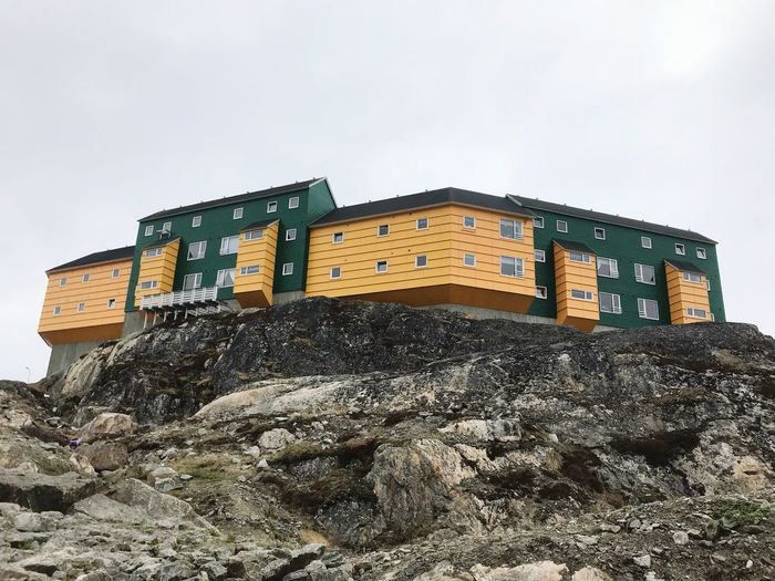 Sisimiut Sky Built Structure Low Angle View Building Exterior Architecture Nature The Architect - 2018 EyeEm Awards Building Outdoors