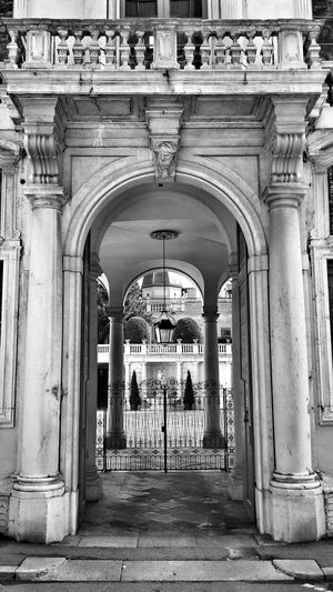 Architecture Arch Façade Building Exterior Marble Stone Carving Historical Building Entrance Luxury Living My City Urban Exploration Black And White Monochrome Photography