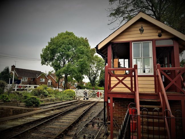 Tenterden Town Signal Box and Level Crossing 2017 2017 2017 Year England, UK K&ESR K&ESR Railway Kent & East Sussex Railway Kent UK Tourist Attraction  Travel Travel Photography United Kingdom Architecture Building Exterior Built Structure Day Kent And East Sussex Railway Kent England No People Outdoors Rail Transportation Railroad Track Sky Transportation Travelphotography Tree