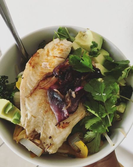 Food Salad Fish Avocado Healthy Good
