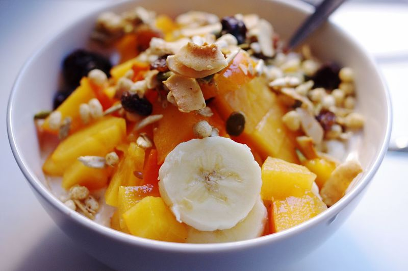Close-Up Of Fruit Salad In Bowl