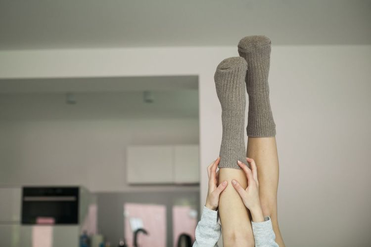 Legs_only Legsselfie Legs And Feet Human Body Part Legs Lazy Day Girl Woman Power Woman Home Interior One Person Young Adult Domestic Life Bed Bedroom Relaxation Women Arms Hands Socks Socksoftheday Wool Socks Feet Feetlove Feets In The Air Fashion Stories