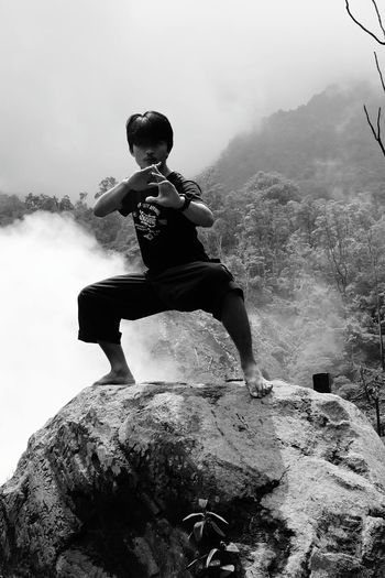 black and white Alam Indonesia Indonesia_photography Fighter Pencak Silat Silat INDONESIA Gunung Salak Kpsnusantara Salak Mountain Bogor Mountain EyeEm Best Shots EyeEm EyeEm Nature Lover EyeEm Gallery Eyeem Market Eyeem Edit Eyeem Martial Arts Martial Arts One Person Adult Adults Only People One Man Only Only Men Motion