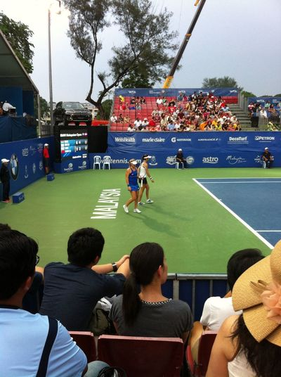 Had a blast watching some ladies at the #bmwmalaysianopen #bmwmo2014 #iamalexchan #kualalumpur #malaysia #rsgc #royalselangorgolfclub #tennis