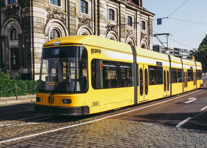 Tram in Dresden Deutschland Dresden Tram City Germany Land Vehicle Mode Of Transportation Public Transportation Tramway Transportation