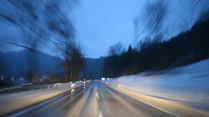 Austria Light Nightphotography Road Night Roadtrip Snow Speed Speed Photography
