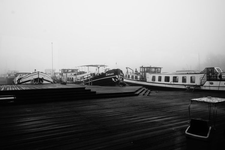 Black & White Black And White Blackandwhite Bridge - Man Made Structure Day Mode Of Transport Nautical Vessel No People Outdoors Passenger Boarding Bridge Sky Sky And Clouds Sony SONY A7ii Tranquil Scene Tranquility Transportation