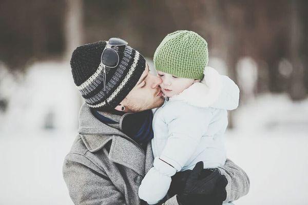 Fatherandson Love Family Winter