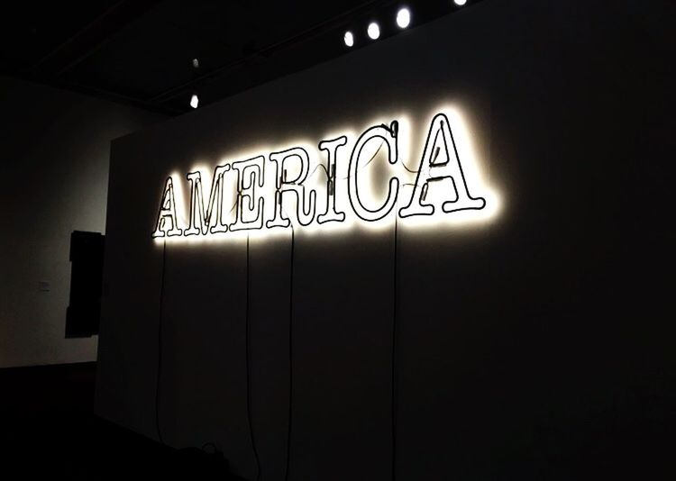 Text Communication Illuminated Wall - Building Feature Indoors  Western Script Architecture Sign No People Built Structure Wall Absence Dark Lighting Equipment Electric Light