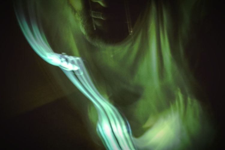 """""""Out of body experience"""" (2014) ghostly Spirit photography supernatural OOBE Strange Things Oddities Weird Stuff Weird Weirdart Abstract Odd But Beautiful Abstract Art Oddbeauty Ghostly Me Ghosts Self Portrait Experiments Green Color Atmospheric Mood Imaginary Landscapes"""