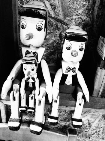 """ Pinokio "" Human Representation Male Likeness Art And Craft Sculpture No People Statue Indoors  Childhood Close-up Day Pinokio Blackandwhite Black & White"