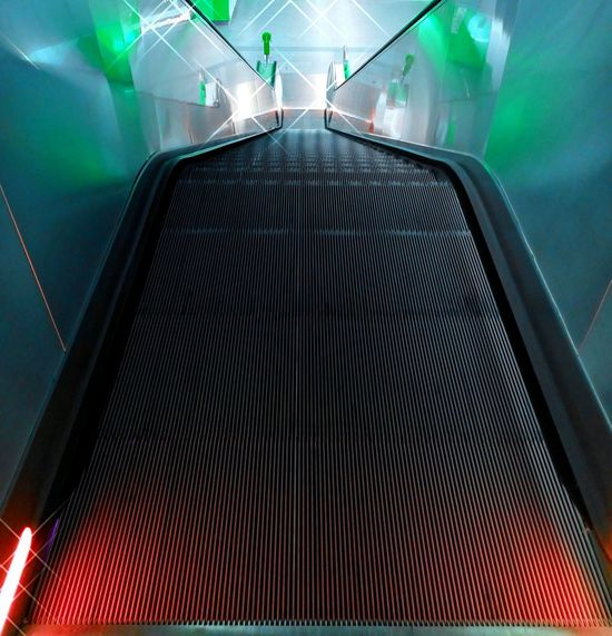 Illuminated Something Different City Stairs Light Effect Crazy Different View Dynamic Transportation Effect Creative Shots