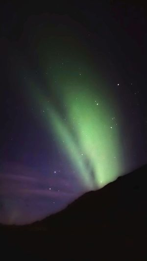 Night Green Color Sky Beauty In Nature Aurora Polaris Scenics Outdoors Awe Nature Star - Space Astronomy Landscape No People Mountain Space Northern Lights Iceland Aurora Borealis