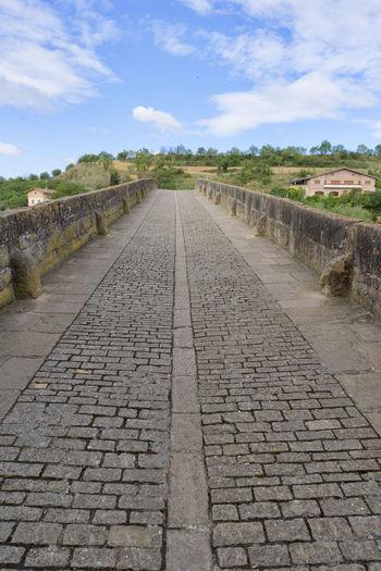 Camino De Santiago Cloud - Sky Day History Nature Navarra No People Outdoors Puente La Reina Sky The Way Forward Tree