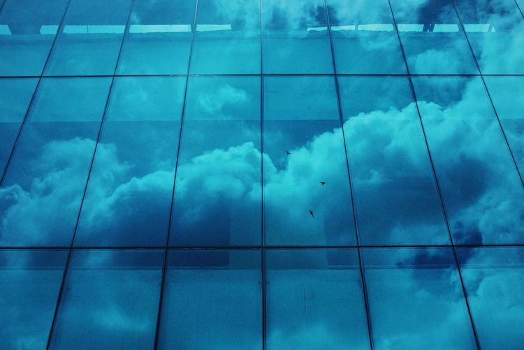 Mirror Clouds And Sky Reflection Blue Window Building Urbanphotography Streetphoto_color Streetphotography Pattern Pieces