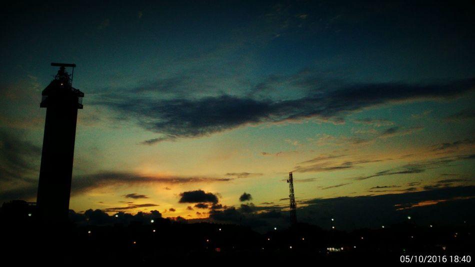 Night Sky Nightphotography Lighthouse Beach Sunset Darkness And Light Chennaibeach Chennai,India