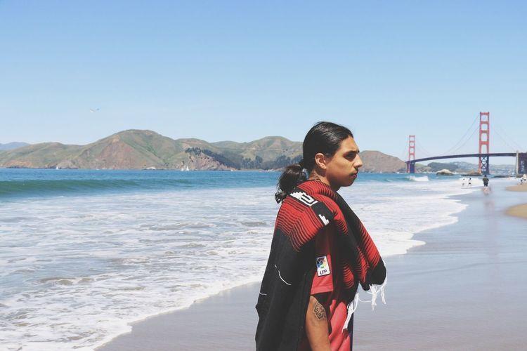 Blue Wave thinking Bay Area California Enjoying Life Taking Photos Hello World Golden Gate Bridge Beach
