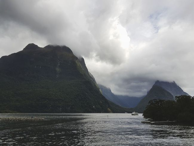nature The Great Outdoors - 2018 EyeEm Awards Newzealand Photos Galaxy Note 8 Newzealand Streamzoofamily Milford Sound Cloudpark Clouds New Zealand Mountain Cloud - Sky Landscape Nature Lake Water No People Outdoors Day Beauty In Nature Waterfront Scenics Tranquility Tranquil Scene Sky