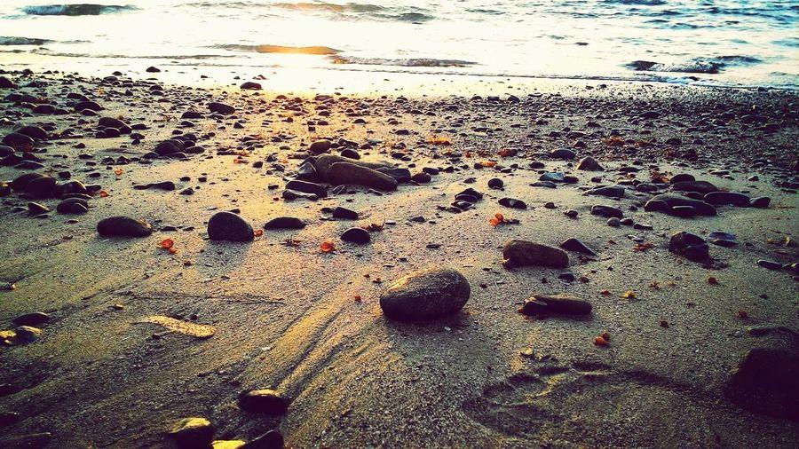Sand & Sea Stones & Water Sunset Summer ☀ Puerto Princesa City Palawan Philippines