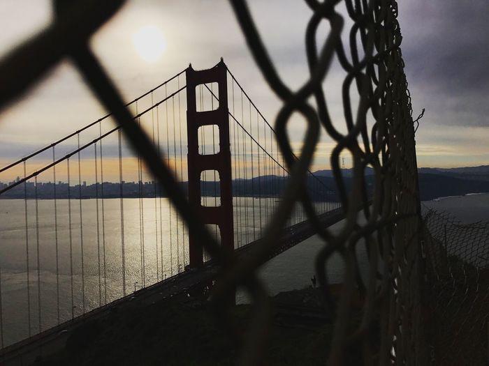 """Links"" Links Golden Gate Bridge Chain Link Fence Fence California Architecture Bridge"