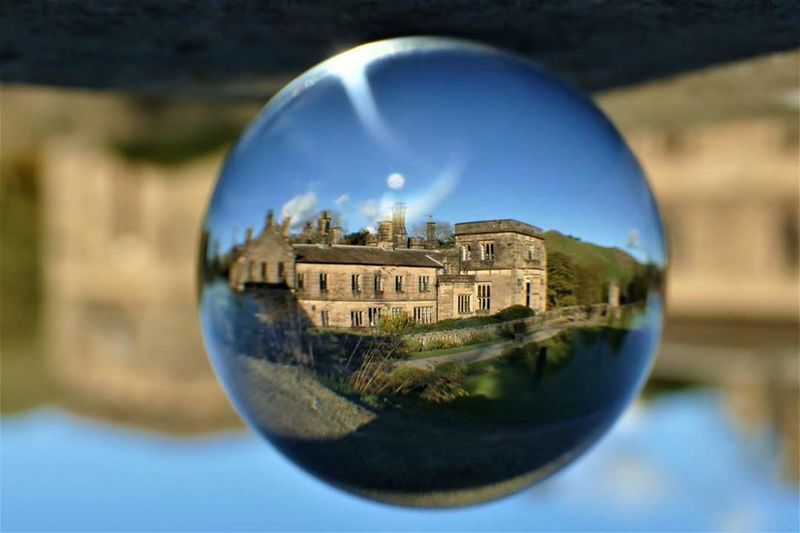 I've been playing with Something Different today...😁😁 Reflection Architecture Outdoors Having Fun For Anyone Whos Interested Because 🌟i🌟can😛 Photography Is My Escape From Reality! Rural Scene Afternoonwalk Sunday Walk From My Point Of View Beautiful Day Stunning_shots Crystal Ball Crystal Ball Photography Peak District  Ilam Hall Sunday Afternoon