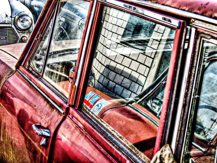 There are a couple of old cars on my way to work. Today i took my cam with me. Guess what is mirror,what is real. Light And Shadow Germany Rost Car EyeEm Gallery Taking Photos EyeEm Rusty Autos