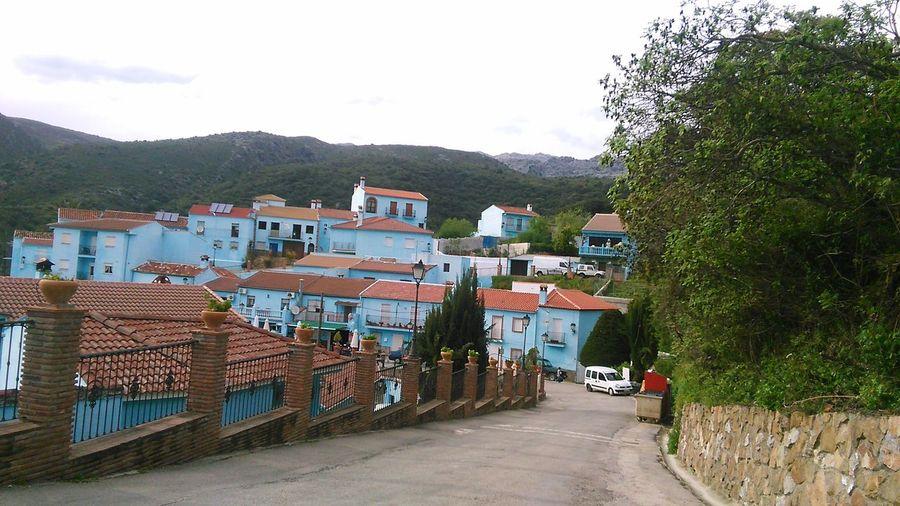 Juzcar Pueblo Pueblos De España Pitufo Azul Blue Twon Mountain Malaga Serrania De Ronda