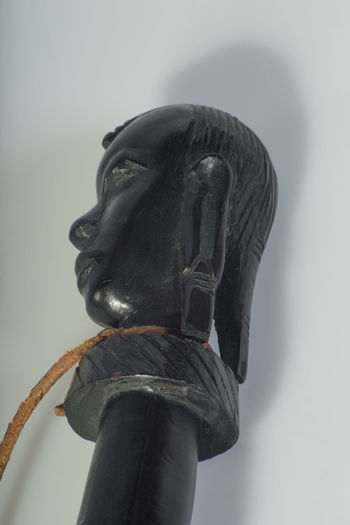 Object Photography Training: Head of African Ceremonial Sword AFRICAN CULTURE Analogue Lens Art And Craft Close Up Close-up Creativity Day High Angle View Human Representation Indoors  Light Table Male Likeness No People Object Photography Old Lens Sculpture Statue