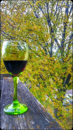 Time for a break on this beautiful Sunday! Fall Beauty Wine Time Happy Place♥