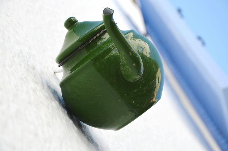 Food And Drink Close-up Green Color Teatime Teapot Tea Drink Ceramics Decoration Wall