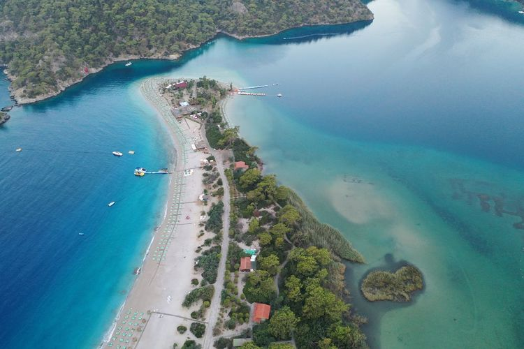 High angle view of Ölüdeniz beach