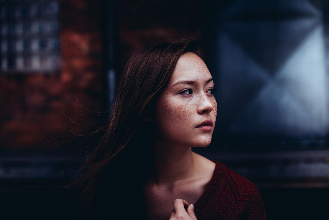 Woman looking away