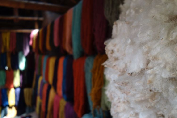 Artisan Looming Natural Wool Multicolors  Close-up Deapth Of Field Flatlight Multi Colored Arrangement Nature Memories Quiet Moments Peru Cusco Sweetmemories Tranquility Light And Shadow