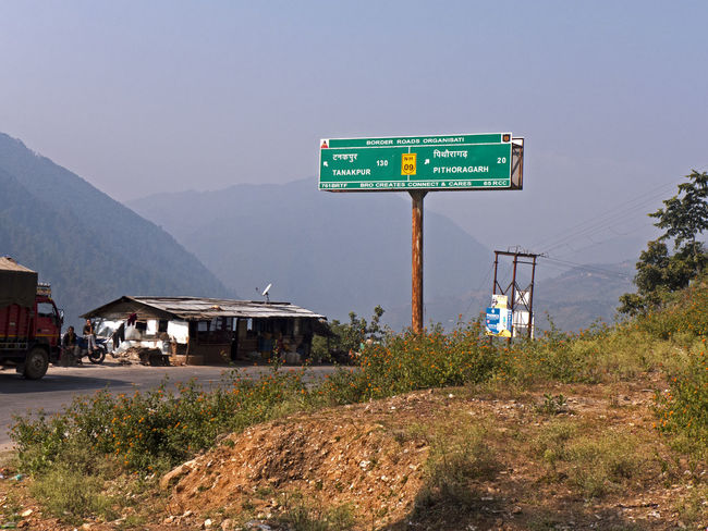 Rest area on the motorway NH 09 to Pithoragarh in Uttarakhand India Himalayas India NH 09 Service Area Traveling Architecture Building Exterior Built Structure Clear Sky Communication Landscape Motorway Mountain Mountain Range Rest Area Restaurant Road Road Sign Uttarakhand